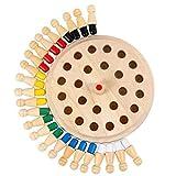 #NA Juego de ajedrez con Memoria de Madera para niños, Juego de Mesa de Bloques Divertido, Juguete Educativo de Capacidad cognitiva de Color, Juegos de Mesa creativos