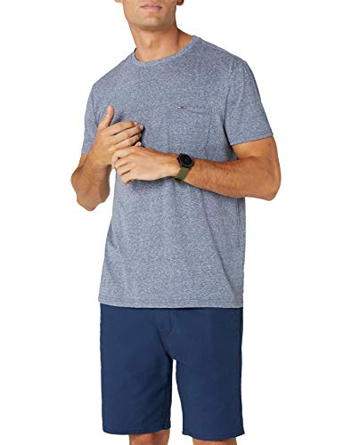 Tommy Hilfiger Essential Pocket T-Shirt, Blu (Black Iris 002), Small Uomo