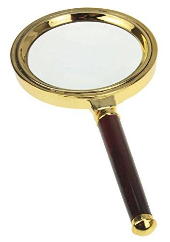 Handlupe Extra große Leselupe mit 10X Fach Vergrößerung Leichte Schmuck Lupe Vergrößerungsglas für Senioren, Karten, Münzen und Briefmarken