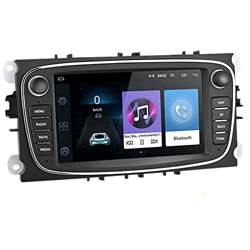 Autoradio Android 9.0 da 7 pollici in Dash Car Stereo Player Unità principale Navigazione GPS WIFI Bluetooth Ricevitore FM Dual USB per Ford Focus Mondeo C-MAX S-MAX Galaxy II Kuga (nero)