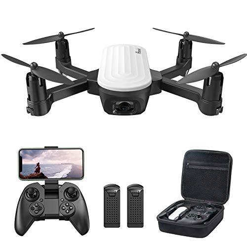 Potensic Drone con Telecamera 2K, RC Quadcopter Drone Pieghevole WiFi FPV Droni, Sensore di Gravità, Controllo Gestuale, Flusso Ottico, Modalità Senza Testa 3D Flip, 2Batterie con 20 Minuti di Volo