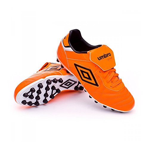 Umbro Speciali Eternal Premier AG, Scarpe da Calcio, Shocking Orange-Black-White, Taglia 10 US (44 EU)