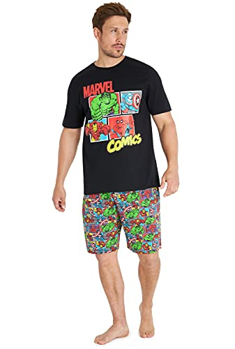 Marvel Pijama Hombre Verano, Pijama...