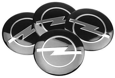 4 PCS Auto Center Hub Caps compatible con Opel Zafira A B Astra H G J K F Mokka Corsa B C D, Wheel Center Logo Badge Stickers Accesorios de decoración de modelado de neumáticos