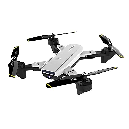 Drone, cámara Dual 4K Drone Avión RC Plegable de Cuatro Ejes Avión de Control Remoto aéreo HD para Regalo de Adultos para niños en Interiores y Exteriores (Color: Blanco, Tamaño: 720P)