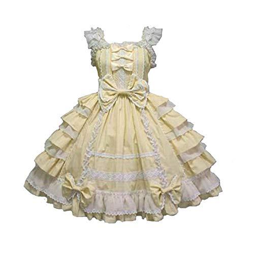 Unicon baby Anime Lolita Kleid Gothic Damen Puppe Kostüm Halloween Fancy Outfit Cosplay Kostüme Gr. Medium, gelb