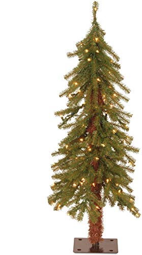 National Tree Company Pre-lit Artificial Christmas Tree | Includes Pre-strung White Lights | Hickory Cedar - 3 ft