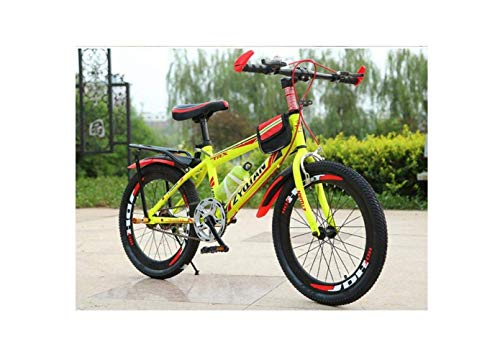 SEESEE.U Mountain Bike Men's Mountain Bike 20 Pouces 22 Pouces 24 Pouces Single Speed  u200b u200bHigh-Carbon Steel Hardtail Student Child Commuter City Bike, Blue, 22Inch, Yellow, 24 inches