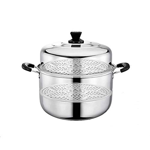 Check Out This Stainless steel double layer 3-layer steamer pot multi-function with tempered glass c...