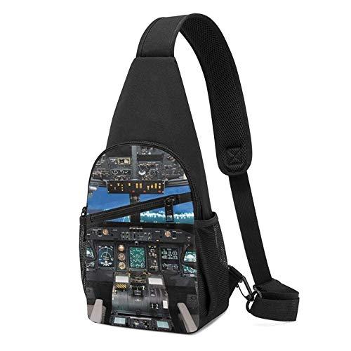 DJNGN Sling Backpack Flugzeug Cockpit Sling Bag Umhängetasche Travel Wandern Brusttasche Daypack
