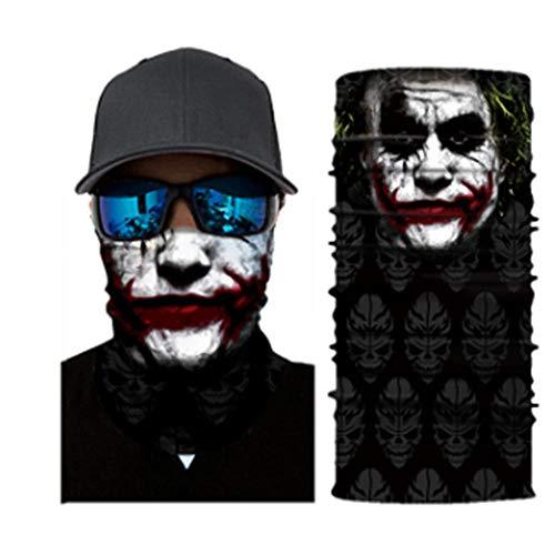 LKJH Maske Motorrad Biker Maske Gesichtsschutz Maske Schädel Gesichtsmasken Ghost Bandanas...