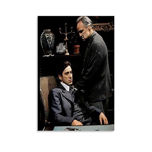 HAPPOW Póster de Al Pacino con Foto Firmato El Padrino Pintura Decorativa Lienzo de Pared de Sala de estar Carteles de Dormitorio Pintura de 30 x 45 cm
