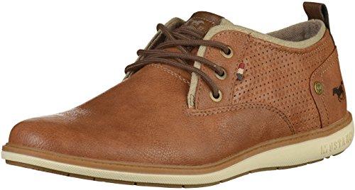 MUSTANG Shoes Halbschuhe in Übergrößen Cognac 4111-303-307 große Herrenschuhe, Größe:48
