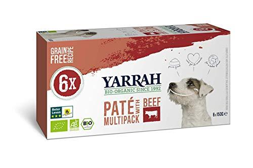 Yarrah Bio Hundefutter Multi Pack Pastete Mit Rind und Huhn - 6 x 150 gr - Geeignet für Hunde Aller Rassen und Altersgruppen - Getreidefrei