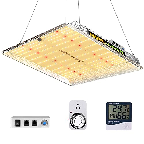 MARS HYDRO TS 1000W Led Grow Light 3x3ft Coverage Upgraded Daisy Chain Dimmable Full Spectrum Grow Lamps for Indoor Plant LED Grow Hydroponic Growing Light with 342 LEDs Thermometer Hygrometer Timer