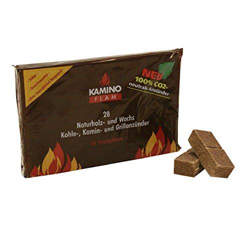 Kamino Flam Naturholz- und Wachs Kohle-, Kamin- und Grillanzünder