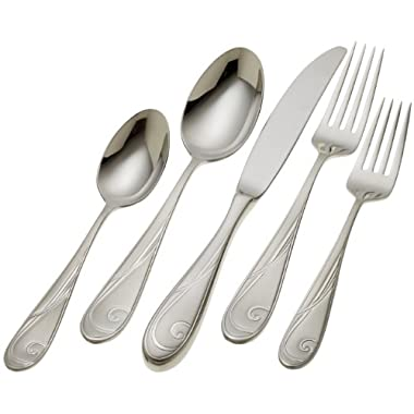 Yamazaki Platinum Wave 20-Piece Flatware Set, Service for 4