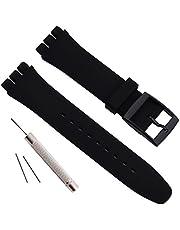 Cinturino di ricambio impermeabile in gomma siliconica per orologio Swatch (17 mm 19 mm 20 mm)