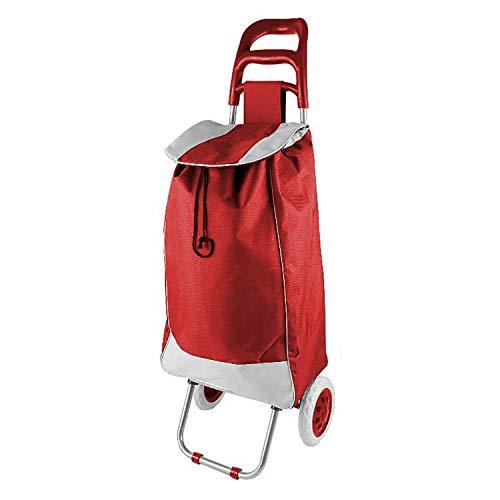 Einkaufstrolley Treppensteiger Einkaufsroller Einkaufskorb mit Rädern Rot klappbar
