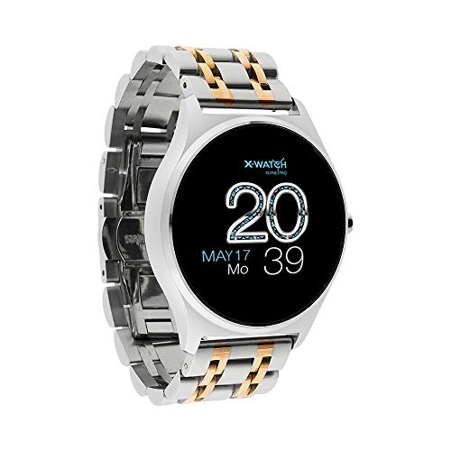X-WATCH JOLI XW PRO Damen Smartwatch mit Blutdruckmessung - Fitness Watch - Shiny Silver 54059