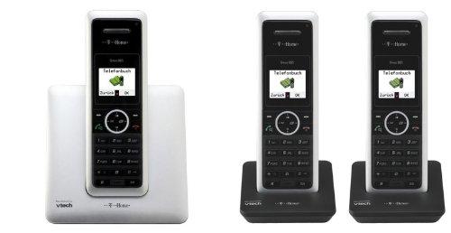 T-COM T-Home Sinus 302i plus 2, ISDN TRIO-Schnurlostelefon mit insgesamt 3 Mobilteilen