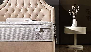 Smith & Oliver Organic Cotton - 12 Inch - Deluxe Sleep - Plush Euro Pillow Top - Cool Memory Foam & Pocket Spring Mattress - Green Foam Certified - Queen