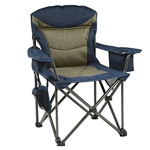 ZRXRY Silla de Camping Plegable portátil, Silla de césped Resistente con Bolsa más Fresca, Soporte para Silla de Playa al Aire Libre de 330 Libras para Viajes, Barbacoa, Pesca,Azul