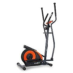 Klarfit Ellifit FX 250 – Nordic Walking elliptische crosstrainer, elliptische kruistrainer, handpulsmonitor, trainingscomputer, 8 stappen weerstand, voor mensen met een gewicht tot 110 kg, zwart-oranje*
