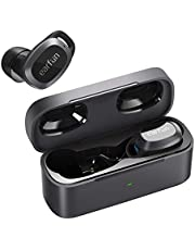 【VGP 2021 SUMMER受賞】 EarFun Free Pro Bluetooth 5.2 ANC搭載 ワイヤレスイヤホン 超軽量 ワイヤレス充電対応 アクティブノイズキャンセリング 外音取り込みモード 音量調節可能 32時間再生 4マイク通話テクノロジー IPX5防水 自動ペアリング 【複合振動板/AAC対応/技適&PSE認証済み】 ハンズフリー通話 音声アシスト機能 (ブラック)
