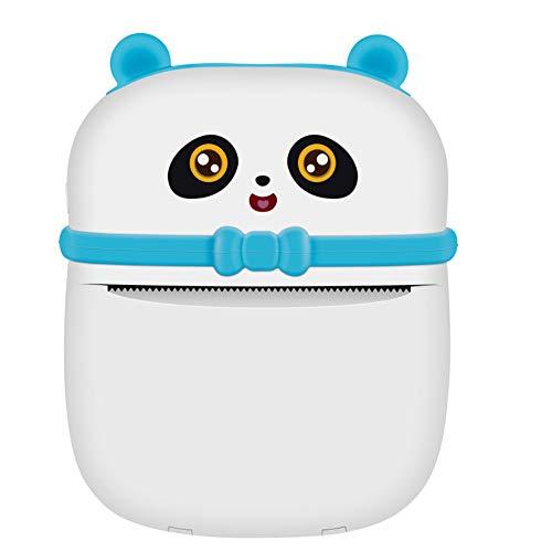Impresora de Bolsillo Mini Bluetooth Impresora portátil inalámbrica portátil Impresora térmica Compatible con iOS + Android para Asistencia en el Aprendizaje Notas de Estudio Diario Fun Work