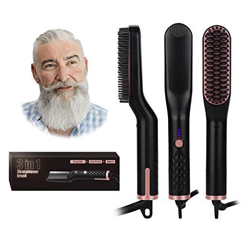 UKLISS Electric Beard Straightener Brush 2.0, Hair Straightening Comb,...