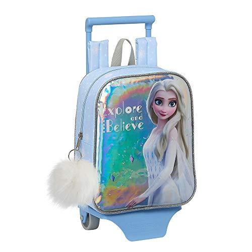 Disney Frozen 2 Mochila con Ruedas para Niñas  Carrito de Guardería Pequeño  Mini