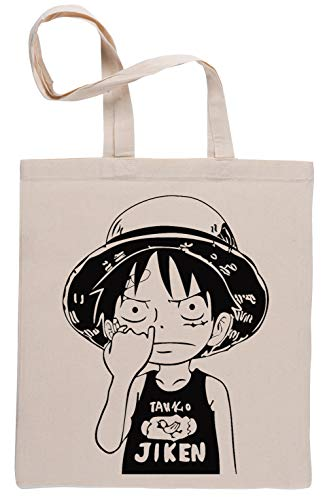 Uno Pieza Luffy Cosecha Nariz Beige Reutilizable Bolsa De Compras Reusable Beige Shopping Bag
