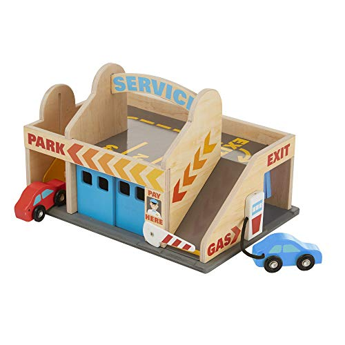 Melissa & Doug Service Station Parking Garage