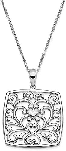 LKLFC Collar para Mujer Collar para Hombre Colgante Collar Colgante de Plata de Ley Me Importa lo Que estás pasando 18 (31x28mm) Collar Colgante Regalo para Niñas Niños