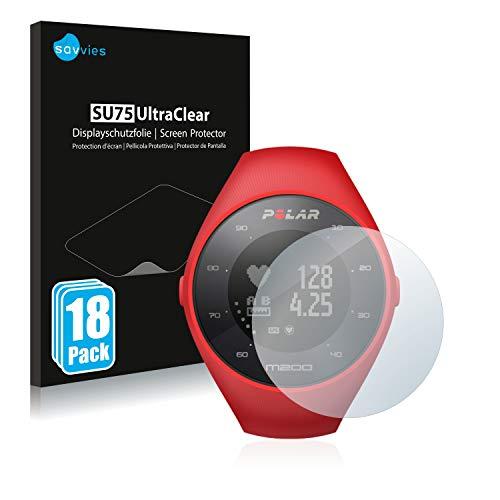 Savvies 18x Schutzfolie kompatibel mit Polar M200 Bildschirmschutz-Folie Ultra-transparent