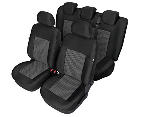 Beschermende bekleding zitkussen kegel L/ML autostoelhoezen stoelhoezen compatibel met Volvo V50 PERUN