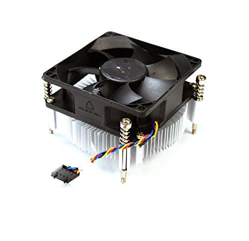 Aquamoon Trading X3JDD Kühlkörper-Lüfter für Dell OptiPlex 3020 7020 7010 MT Precision T1650 65 W CPU-Kühlkörper, 8,9 cm (3,5 Zoll), Schwarz, 5-polig, 4-Draht-Kabel, unverlierbare Schrauben, 89R8J