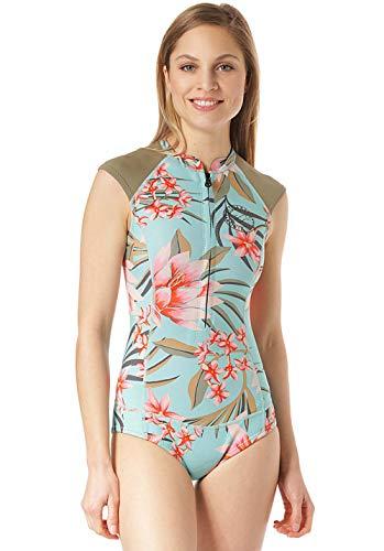 BILLABONG Womens Captain 1mm Shorty Wetsuit - Waterfall - Womens Springsuit - Frecher Bikini-Schnitt unten