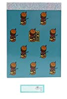 BTS メモ帳 ミニ BT21 防弾少年団 日本製 SHOOKY LINE FRIENDS 当店オリジナルロゴ入り名前シール 2点セット(メモ帳、名前シール)