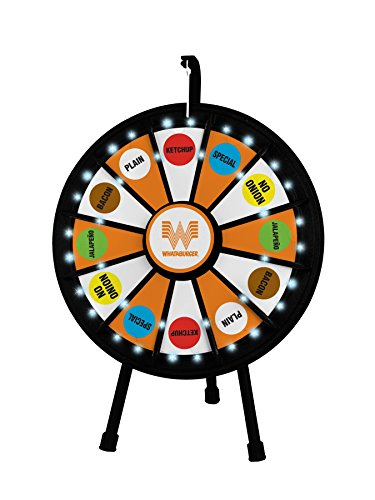 Best Bargain 12 Slot Mini Tabletop Prize Wheel (20.5 Inch Diameter)