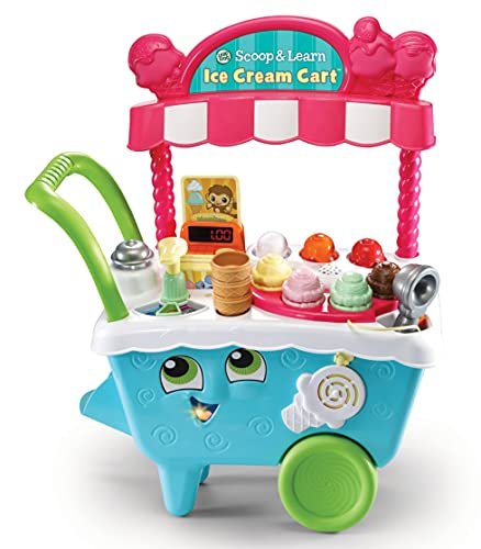 LeapFrog 600703 Scoop & Learn Pretend Toddler Toy for Role Play Food and Magic Ice Cream Scooper Scoop/Learn Cart Set, Various