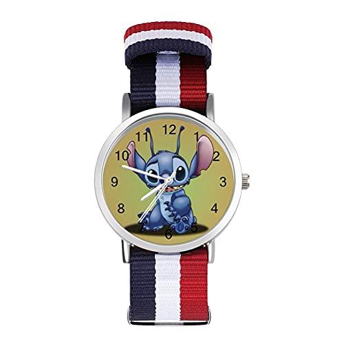 Los relojes Lilo Stitch son impermeables, versátiles, informales, para estudiantes, hombres, mujeres, deportes, moda y temperamento simple anime de dibujos animados