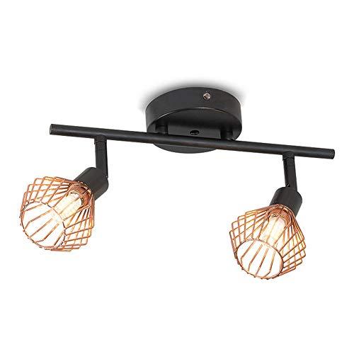 SXFYHXY Plafond lumière G9 Rotation 180 degrés lumières en Acier Inoxydable Double tête projecteur pour Salon Chambre Fond Mur Porche Couloir éclairage,warmlight,30x8x12cm