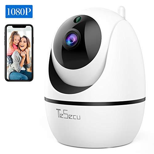 IP Caméra WiFi, Tesecu Cámara de vigilancia Cámara inalámbrica WiFi 1080P,...