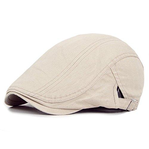 starlit Casual Classic Solid Color Flat Men Cabbie newsboy IVY Hat Cotton Sun Beret Cap