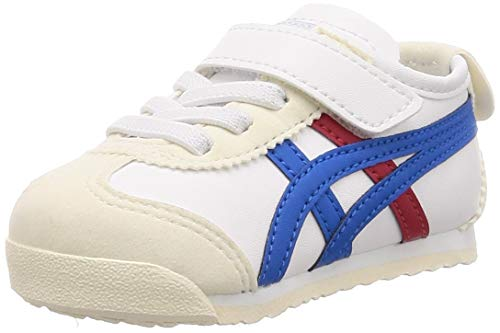 Onitsuka Tiger Mexico 66 Leather Toddler Sneaker Kind Weiss/Blau/Rot - 26 - Sneaker Low