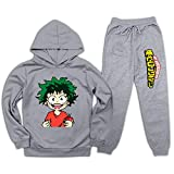 CAPINER Boys Girls Mid-Oriya I-zuku Tacksuit Set Pullover Hoodie and Sweatpants Suit 2 Piece Outfit Fashion Graphic S