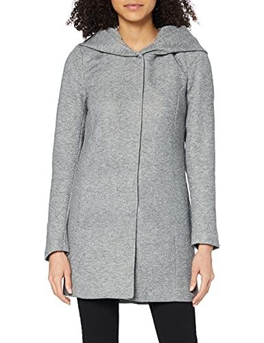 Only Onlsedona Light Coat Otw Noos, Giubbotto Donna, Grigio, 36 (Taglia Produttore: Small)