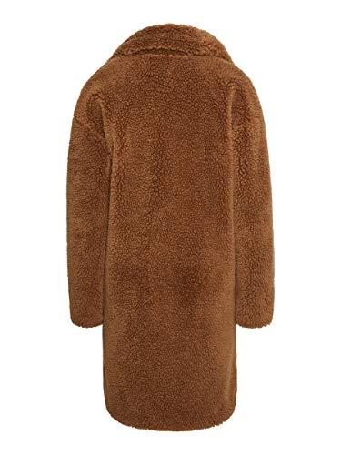 Vero Moda VMLYNNE 3/4 Teddy Jacket KI Abrigo, marrón, L para Mujer